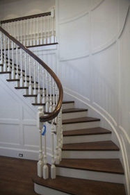 stair and balustrade components from Vintage Millwork of Dracut, MA